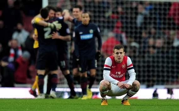 Arsenal knocked out of FA CUP