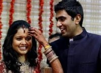 Ashwin with his wife