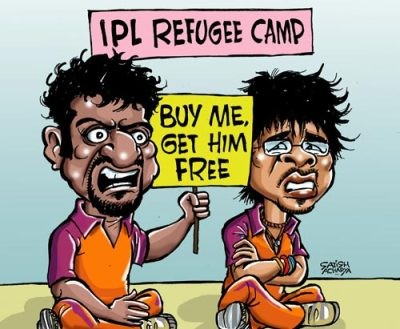 :P refugee auction in IPL