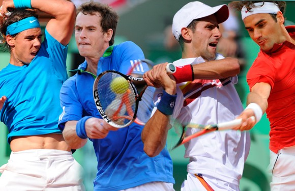 Murray and Djokovic work hard to reach 2nd round at Indian Wells , Nadal and Federer wins it easy