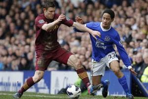 Man City loses at Everton as title bid slips away