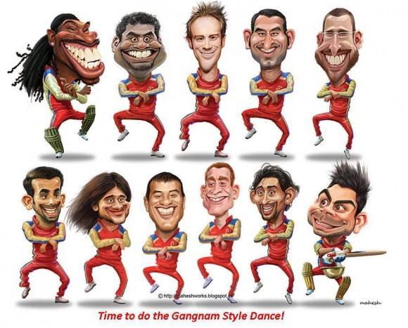 Team RCB celebration after their win.....
