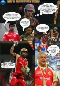 IPL 6 - RCB vs SRH in funny pixels