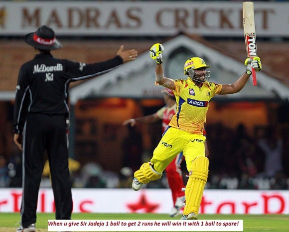 Sir Ravindra Jadeja like a boss for CSK!!