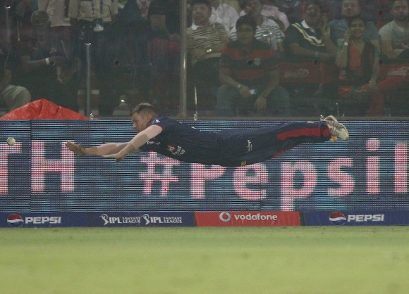 Man of Steel was recently spotted at Feroz Shah Kotla....LOL