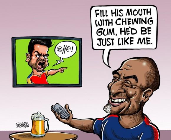 Viv Richards solution for Kohli's BC's & MC's....LOL