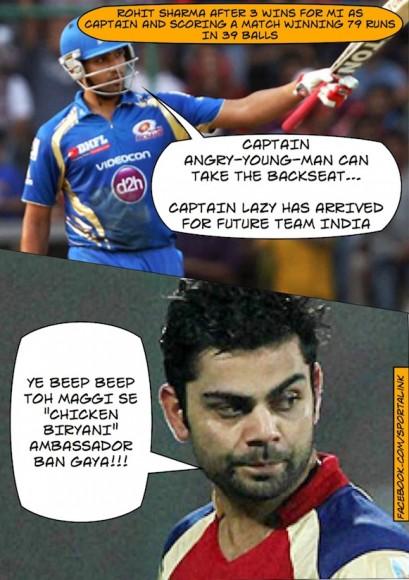 Words exchanged between Virat and Rohit