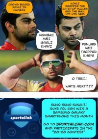 Virat having a word with himself