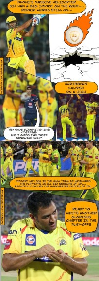 CSK make it to the play-offs