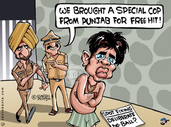 Punjab brings special Police to arrest Sreesanth for spot fixing....LOL