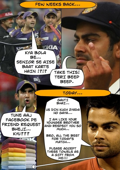Kohli-Gambhir conversation takes a new turn