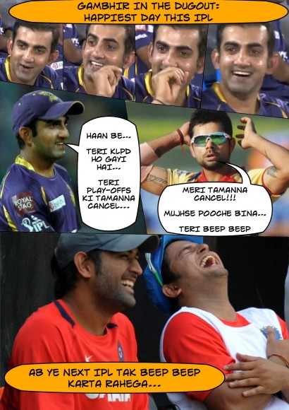 Gambhir gets even with Kohli