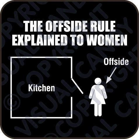 Offside rule explained to women :P