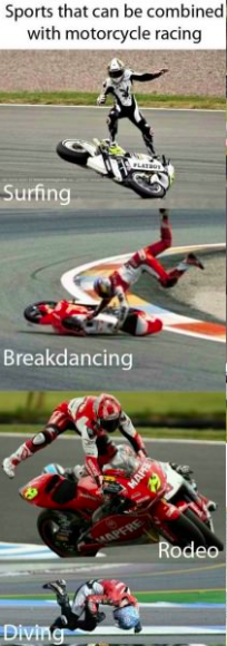 Many forms of Motorcycle Racing