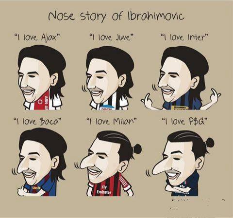Nose Story Ibrahimovic