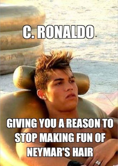 Neymar got his hairstyle from CR7