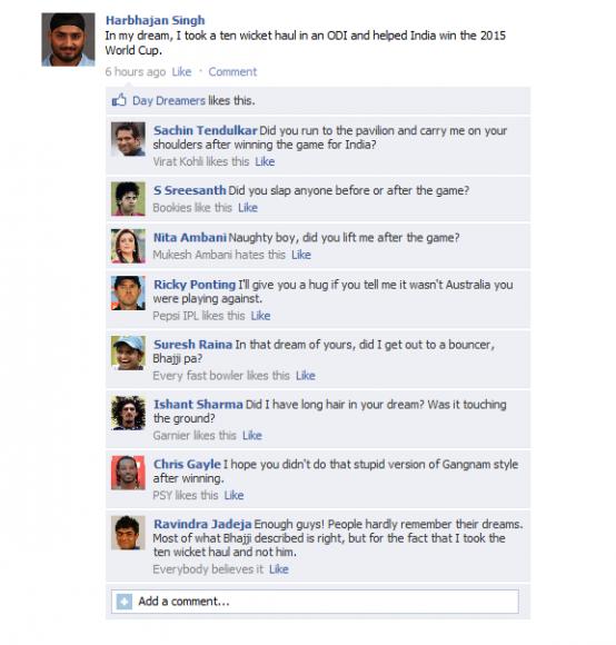 Bhajji - Fake FB wall - Lol xD