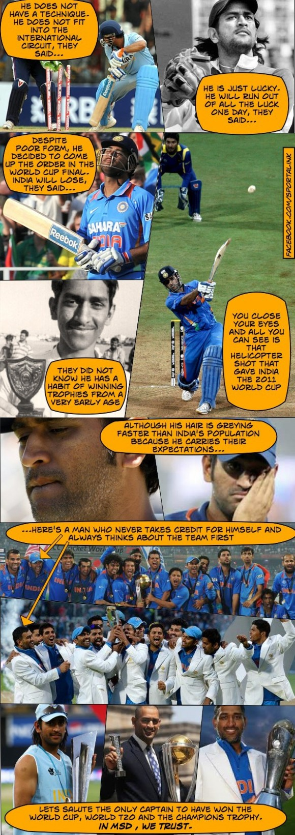 A Tribute to MSD on his birthday!