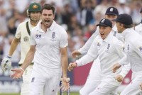 The Ashes, 1st Test: Anderson, Finn put England slightly ahead on day one