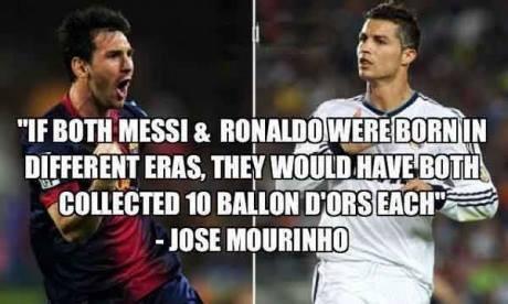 Messi and Ronaldo - Ballon D'ors