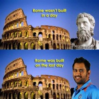 If you know what I mean....MS Dhoni classic example for right man at the right time :)