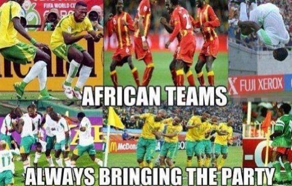 African Teams .... always bringing the party on the football pitch