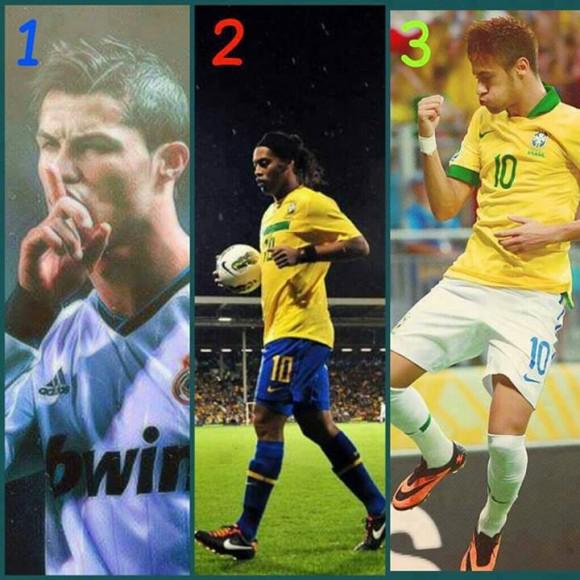 Who is your favorite football star - Ronaldo , Ronaldinho or Neymar?
