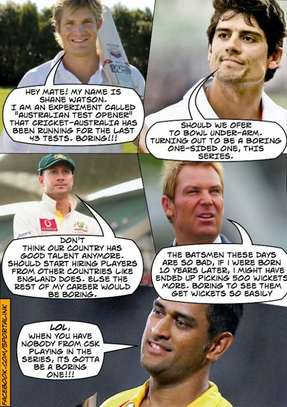 Dhoni on the