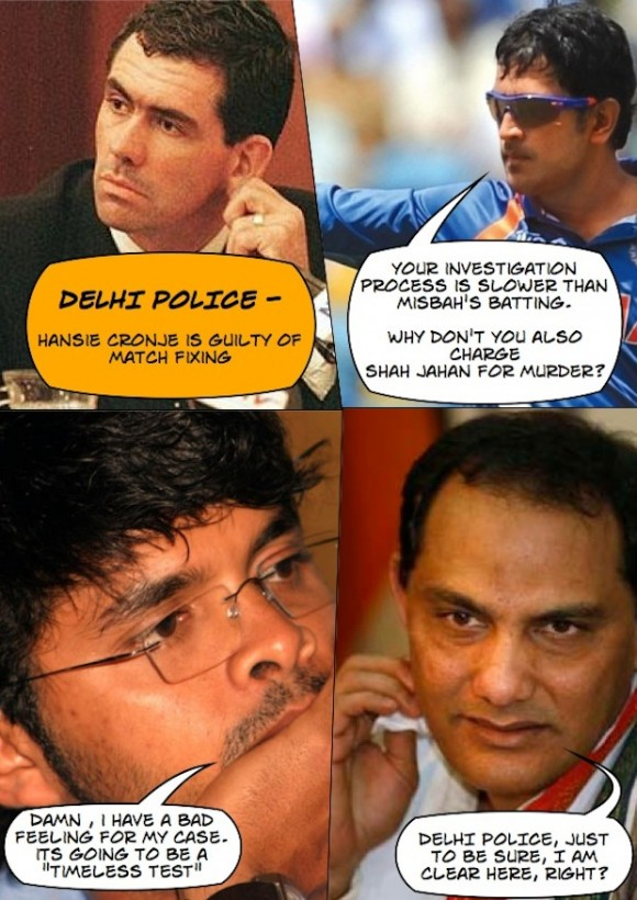 Dhoni's thoughts on the match fixing probe :P