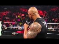 The Rock Reveals the New WWE Championship Belt (2013) - WWE Raw 2/18/13