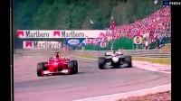 Best overtake ever - Spa 2000 - Hakkinen, Schumacher & Zonta - ITV Commentary