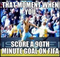 FIFA-14 90th minute goal