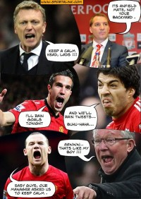 Manchester United plan to take on Liverpool :P