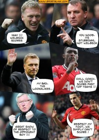 "Manchester United vs Liverpool - How Moyes ""Saw"" the match"