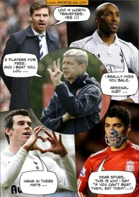 AVB, Wenger and Suarez words-of-wisdom on the transfers