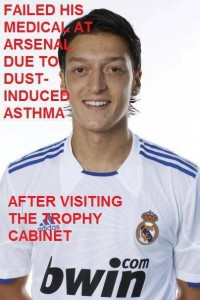 Mesut Ozil fails his medical at Arsenal ;-)