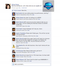 Shilpa Shetty ready for CL-T20 - Fake Facebook Wall