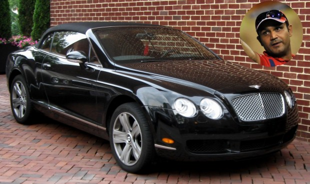 photo of Virender Sehwag Bentley - car