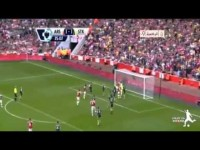 Arsenal vs Stoke City 3-1 All Goals & Ozil GOAL !!! - 22/09/2013