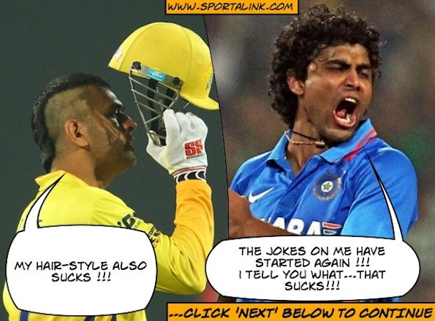 MS Dhoni is not happy with his hair-cut