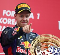 Sebastian Vettel has completed a hat-trick of Korean Grand Prix
