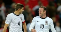 Pole Axed! : Rooney and Gerrard shoot Roy's boys to Brazil