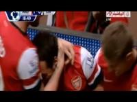 Arsenal vs Liverpool 2-0 2013 Goals & Highlights (2/11/2013) HD Cazorla & Ramsey