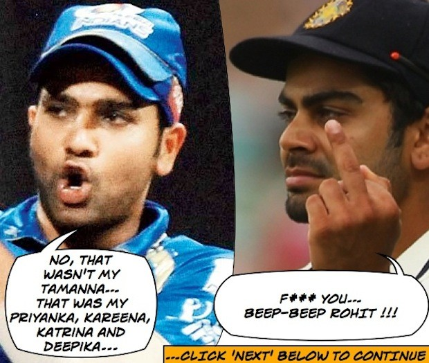 Rohit and Virat fight it out