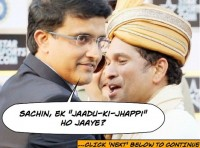 Sourav Ganguly gives JAADU KI JHAPPI to Sachin Tendulkar