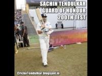 Sachin Tendulkar - Guard of honour - 200th Test