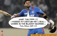 Virat Kohli misses his Century by 1 RUN