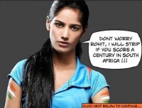 Poonam Pandey will do it if Rohit strikes a century