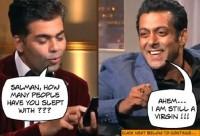 """Salman Khan still a VIRGIN... MS Dhoni teaches him to increase """"strike rate"""""""