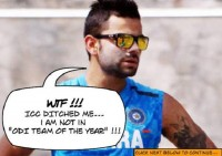 Virat Kohli NOT in ODI Team of the YEAR !!!